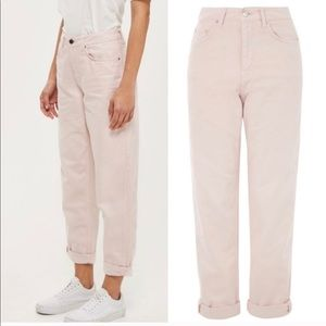 Top shop pale pink boyfriend jeans